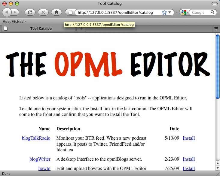 OPML Editor (Frontier in disguise?)